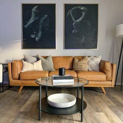Farmhouse Transformed to Modern Living Room