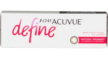 1-day acuvue define natural shimmer 30 pk