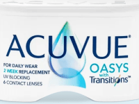 Acuvue Oasys with Transitions 2 week disposable contacts