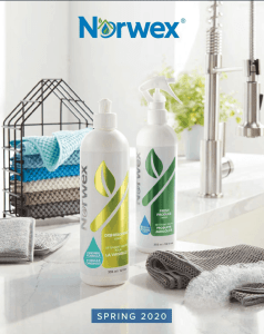 Norwex Spring 2020 product catalog list new clean cleaning safe