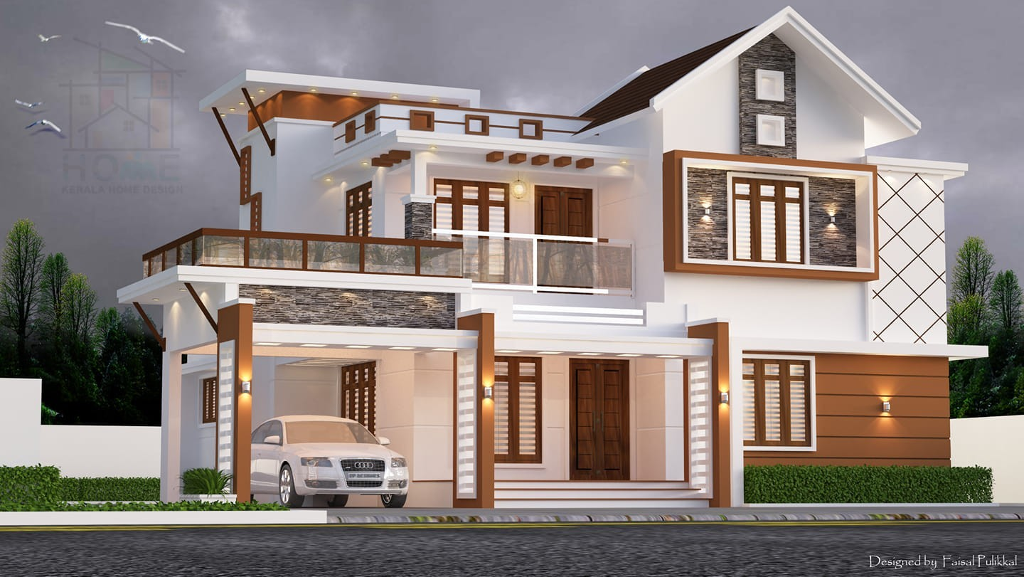 2300 Square Feet 4 Bedroom Contemporary Style Double Floor