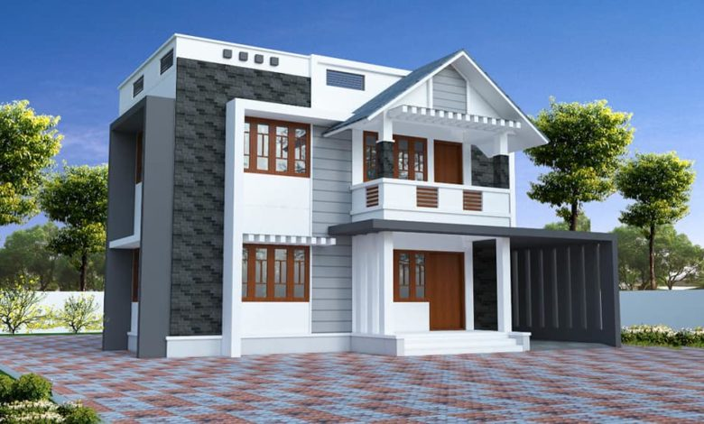 1950 Square Feet 4 Bedroom Simple Contemporary Home Design