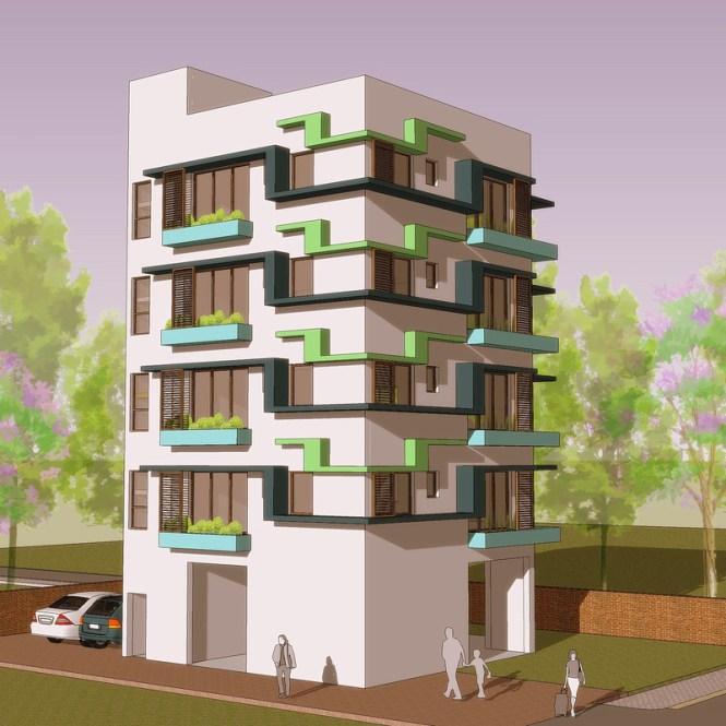 Apartment Building Design 3002