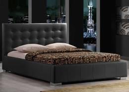 145 Bed 160x200 incl mattress black