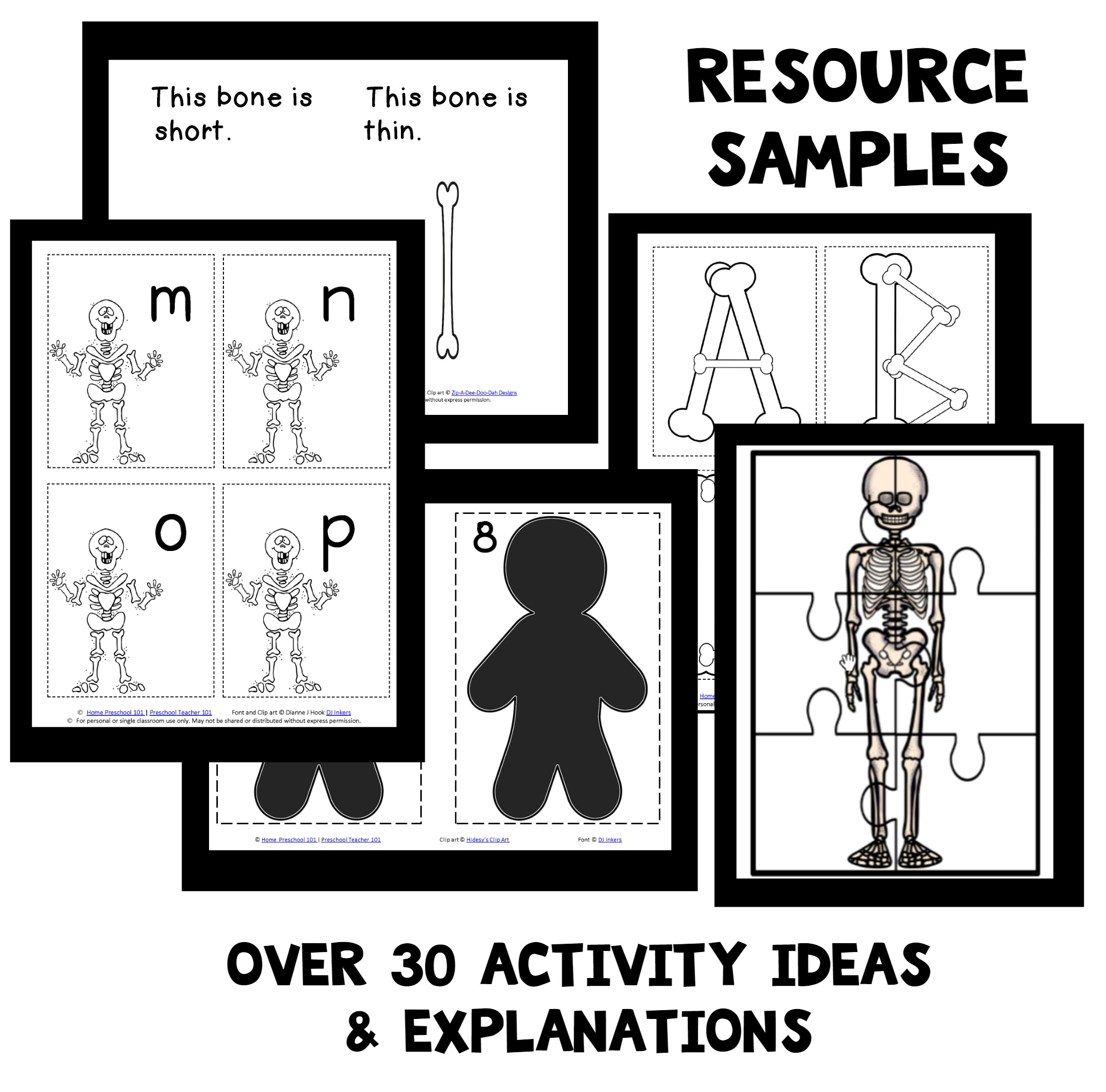 Skeleton Theme Home Preschool Lesson Plan