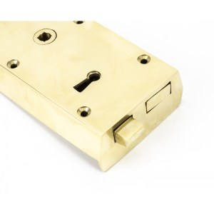 Polished Brass Left Hand Rim Lock – Small Home Refresh 2020