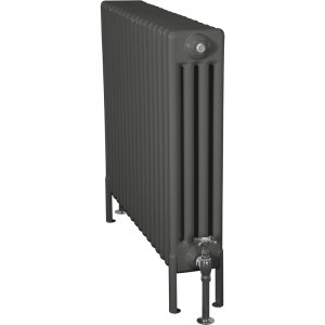Home-Refresh-Carron-Enderby-4-Column-17-Section-Steel-Radiator-710mm-Farrow-and-Ball-Down-Pipe-Colour-Finish