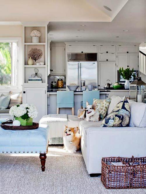Una cucina di ispirazione Americana sempre illuminata | Home ...