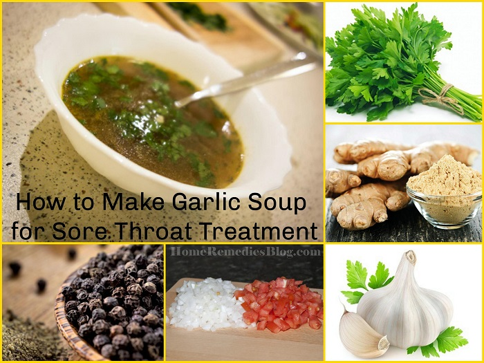 Sore Throat : How to Make Garlic soup for throat pain - Home