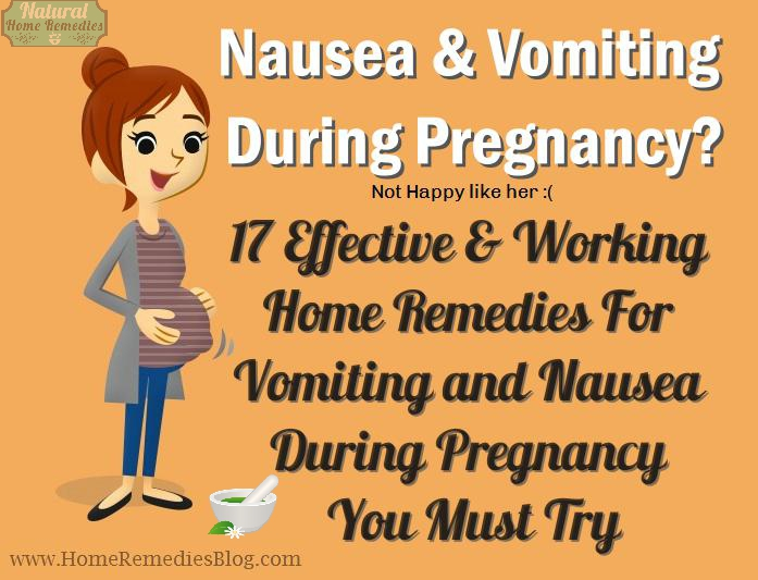 17 Effective Home Remedies for vomiting During Pregnancy