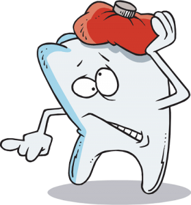 Cold compress toothache remedy