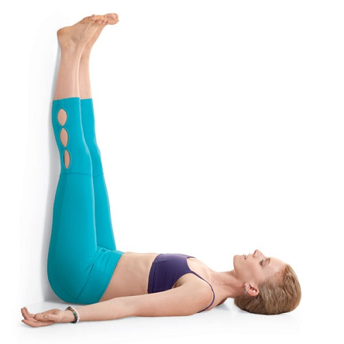 Viparita Karani Yoga Position