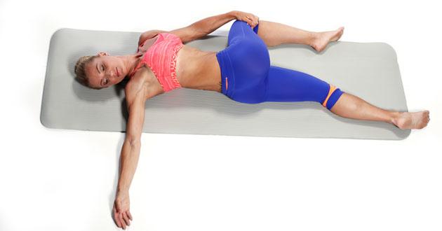 Supta Matsyendrasana - Yoga position