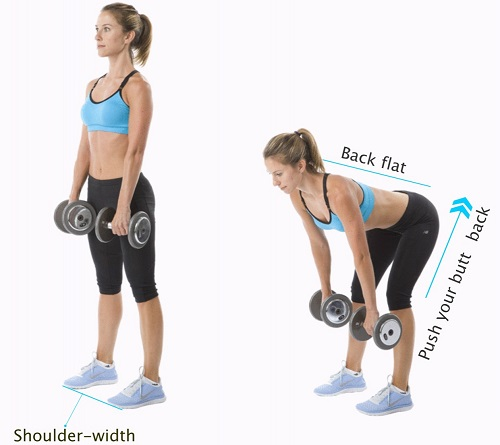 Cellulite Workout-Romanian Dead-lift