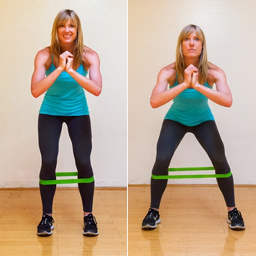 Side Stepping Cellulite Workout with Band