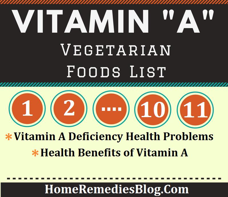 11 Vitamin A Rich Foods (Vegetarian)