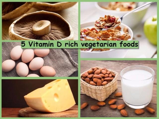 5 Vitamin D Rich Vegetarian Foods