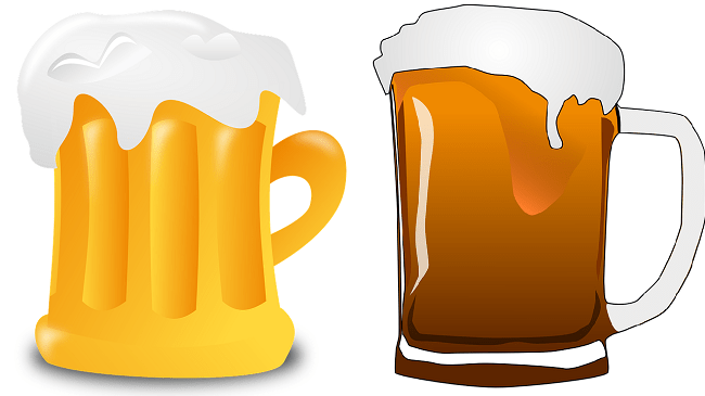 Beer for split ends treatment