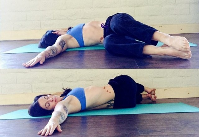 Two-Knee Spinal Twist Yoga Position