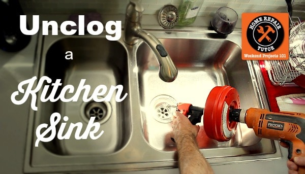 how to unclog a kitchen sink home