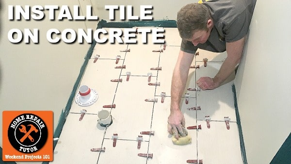 how to install tile on concrete home