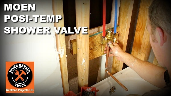 how to install moen shower valves with