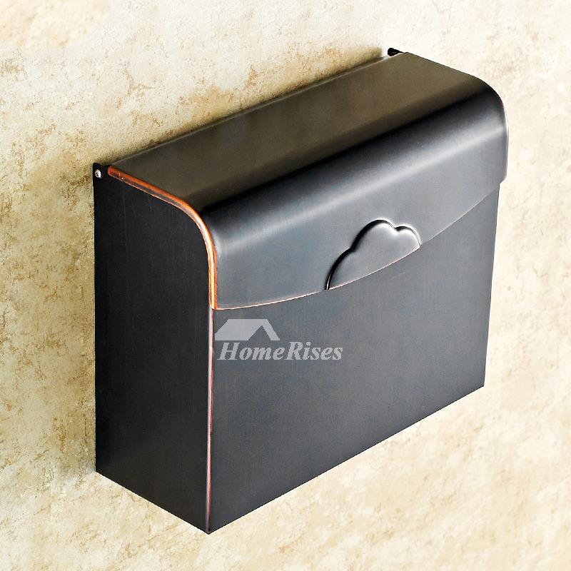 MZ Black Vintage Brushed Brass Wall Mounted Toilet Paper