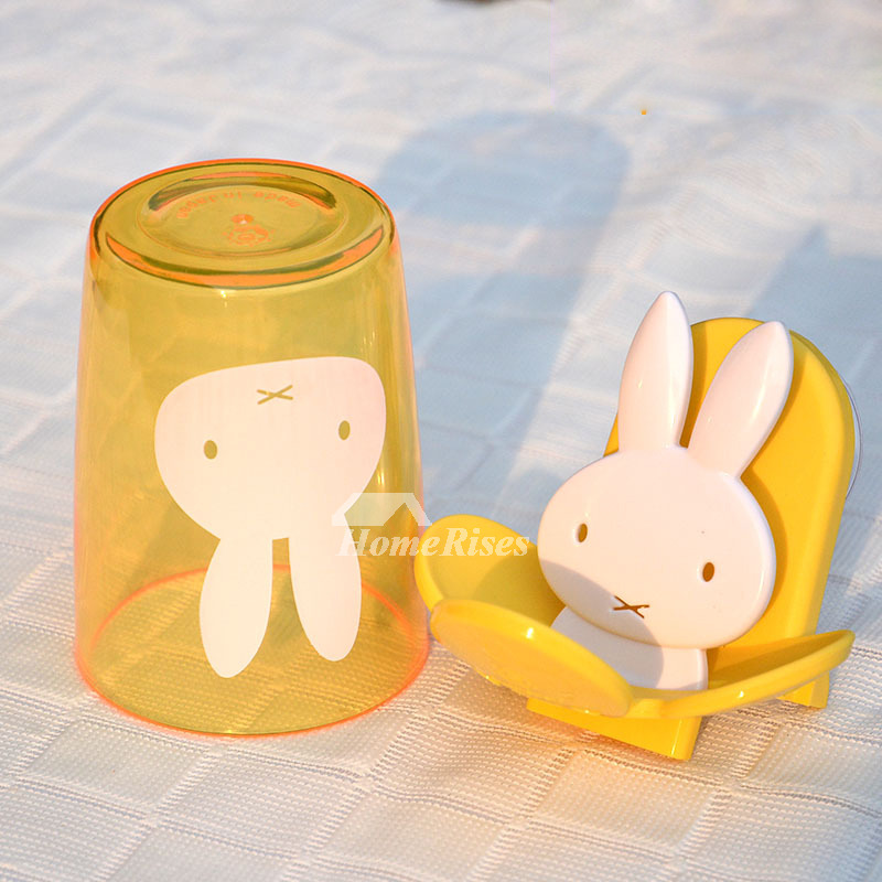 Decorative Toothbrush Holder Suction Cup Bathroom
