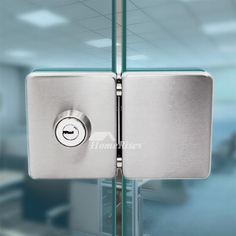 Double Lock Door Knob Square Stainless Steel Silver Brushed