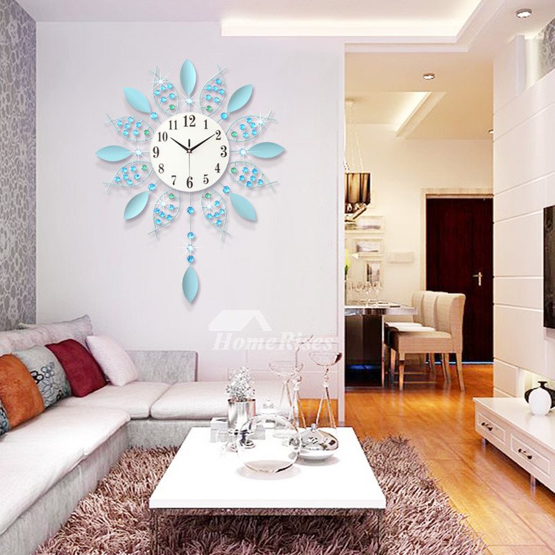 22 Inch Battery Operated Wall Clocks Hanging French Novelty Modern