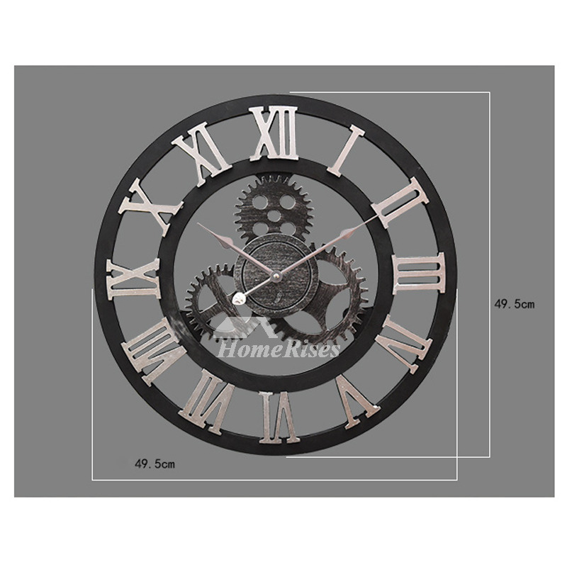 Gear Wall Clock Round 2016 Inch Industrial Decorative