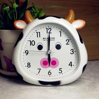 Cute Alarm Clock Unique ABS Plastic Kids GreenBlueYellow