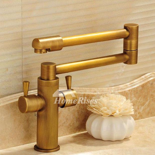 antique brass gold folding gold bathroom sink faucets pot filler