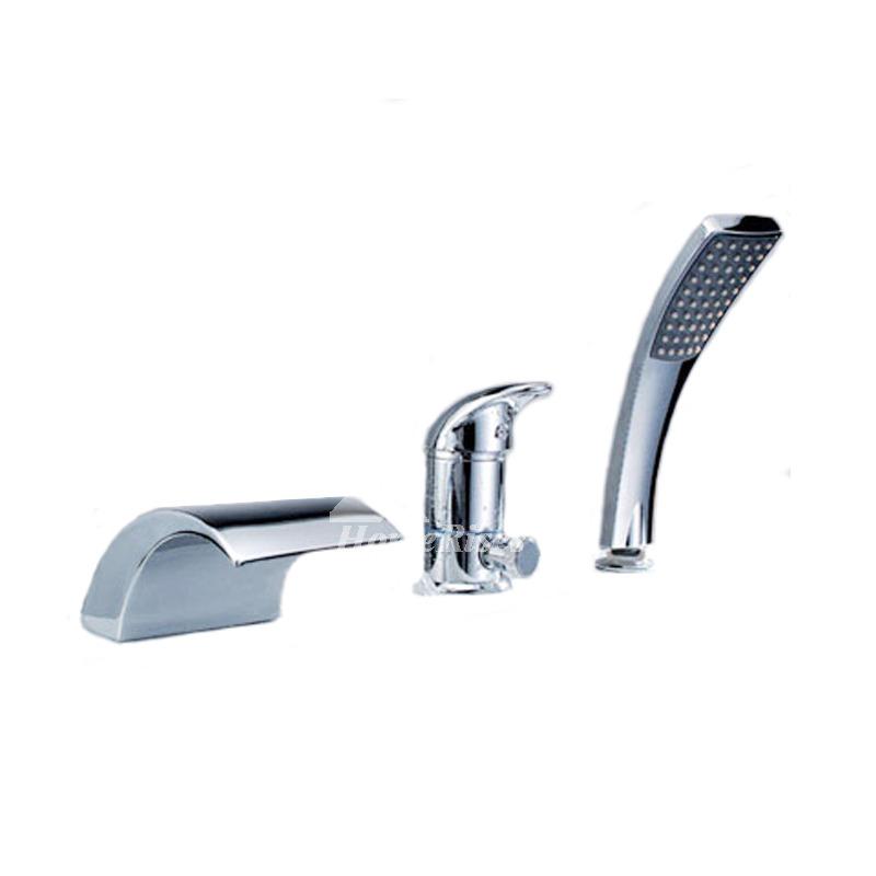 waterfall tub faucet roman silver bathroom 3 piece brass chrome