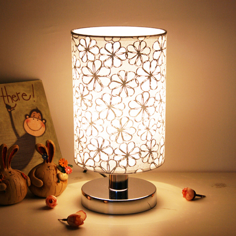 small table lamps modern living room fabric shade e27 decorative