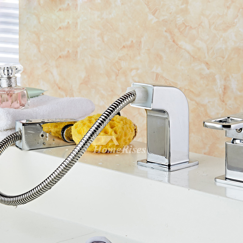roman tub faucets widespread pull out spray silver chrome best