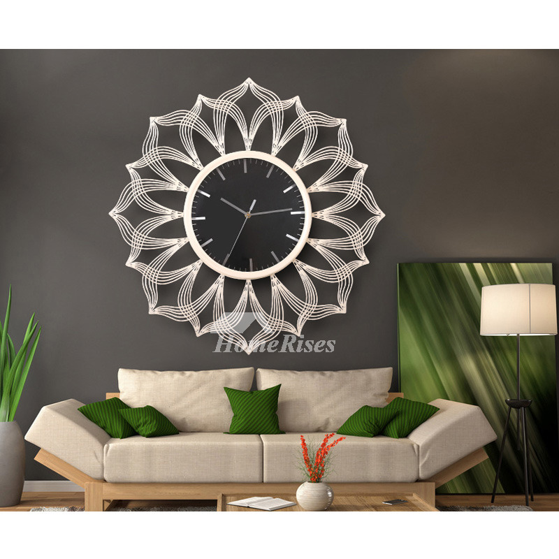 Oversized 24 Inch Wall Clock Living Room Decorative