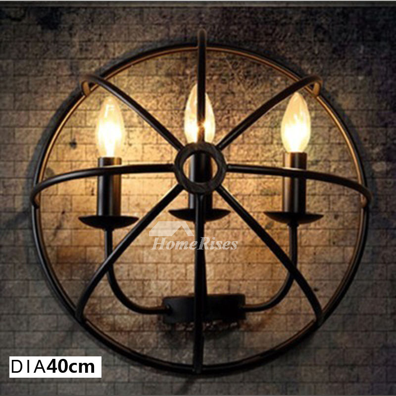 wall candle sconce industrial vintage 1 3 4 5 wall lighting black metal outdoor horse fist creative