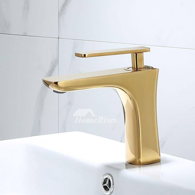 single handle bathroom faucet gold white black vessel sink brass faucet waterfall modern