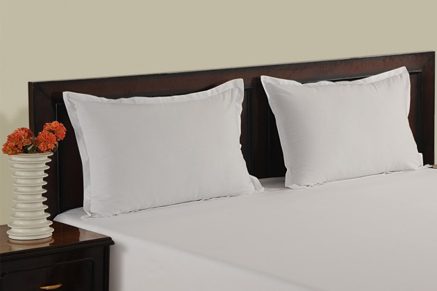 plain pillow cover color white sizes standard 18 x 27 inches