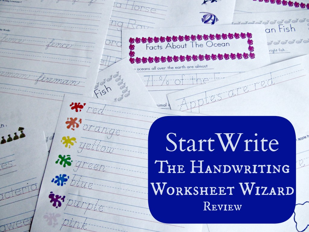 Startwrite The Handwriting Worksheet Wizard Review