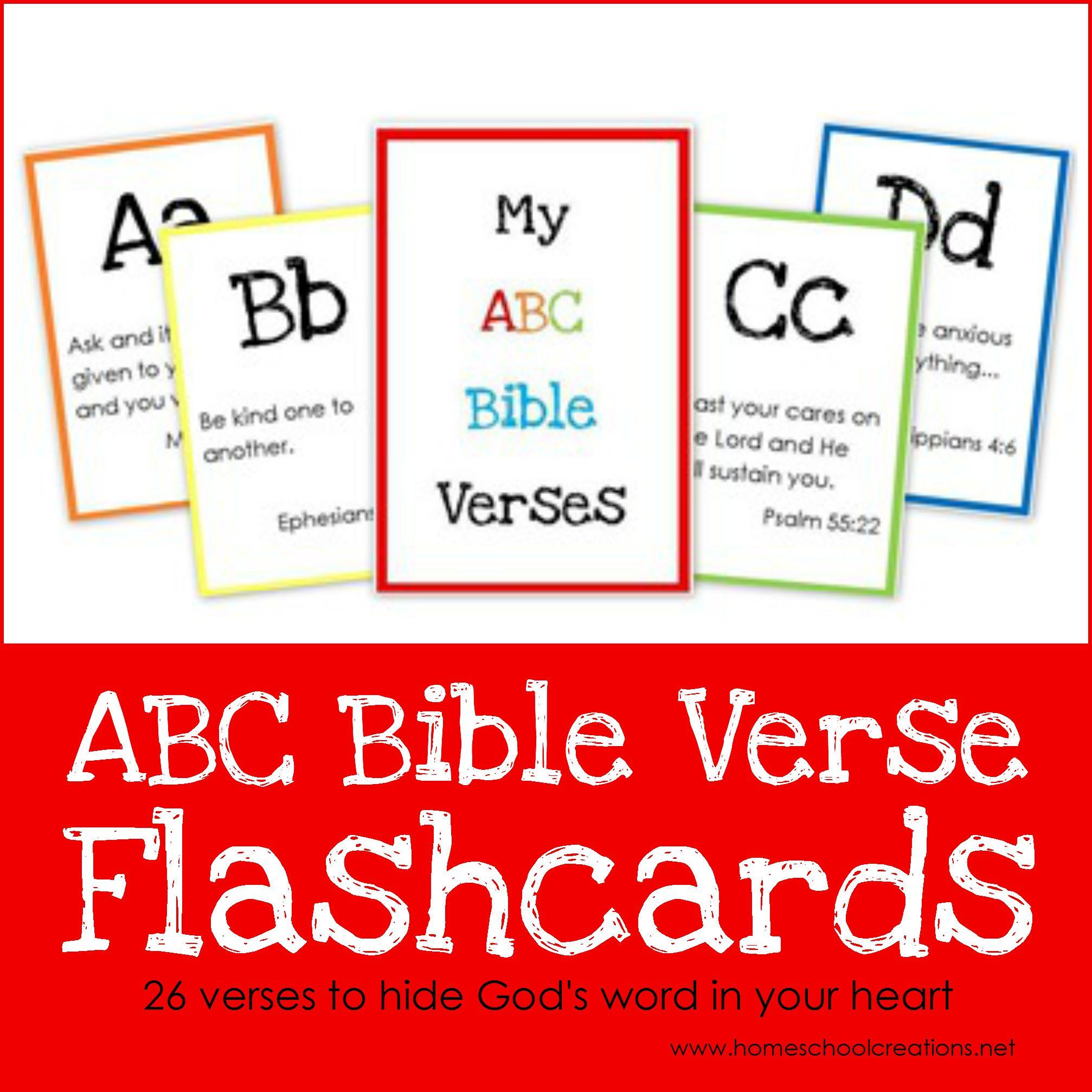 Abc Bible Verse Flashcard Printables Teaching God S Word