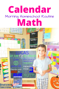 homeschool calendar math elementary