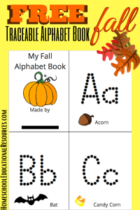 fall theme alphabet book for kids