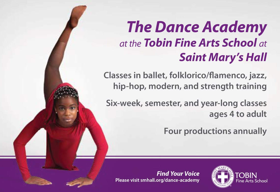 Image of a dancer, The Dance Academy at the Tobin Fine Arts School at Saint Mary's Hall
