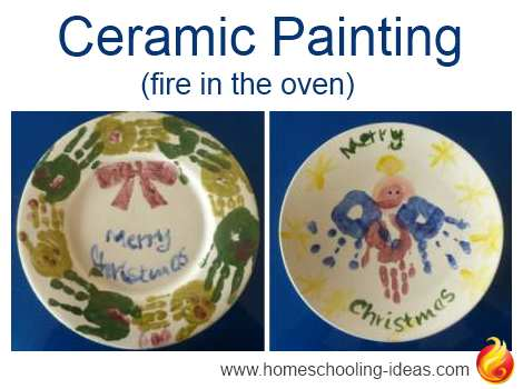 Firing Pottery In An Oven Christmas Plates Idea