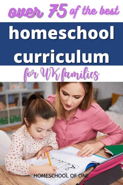 Over 75 of the very best homeschool uk curriculum
