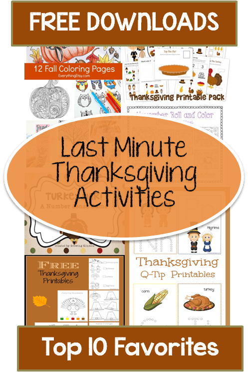 image about Printable Thanksgiving Activities known as Free of charge: Very last Second Thanksgiving Things to do and Printables for