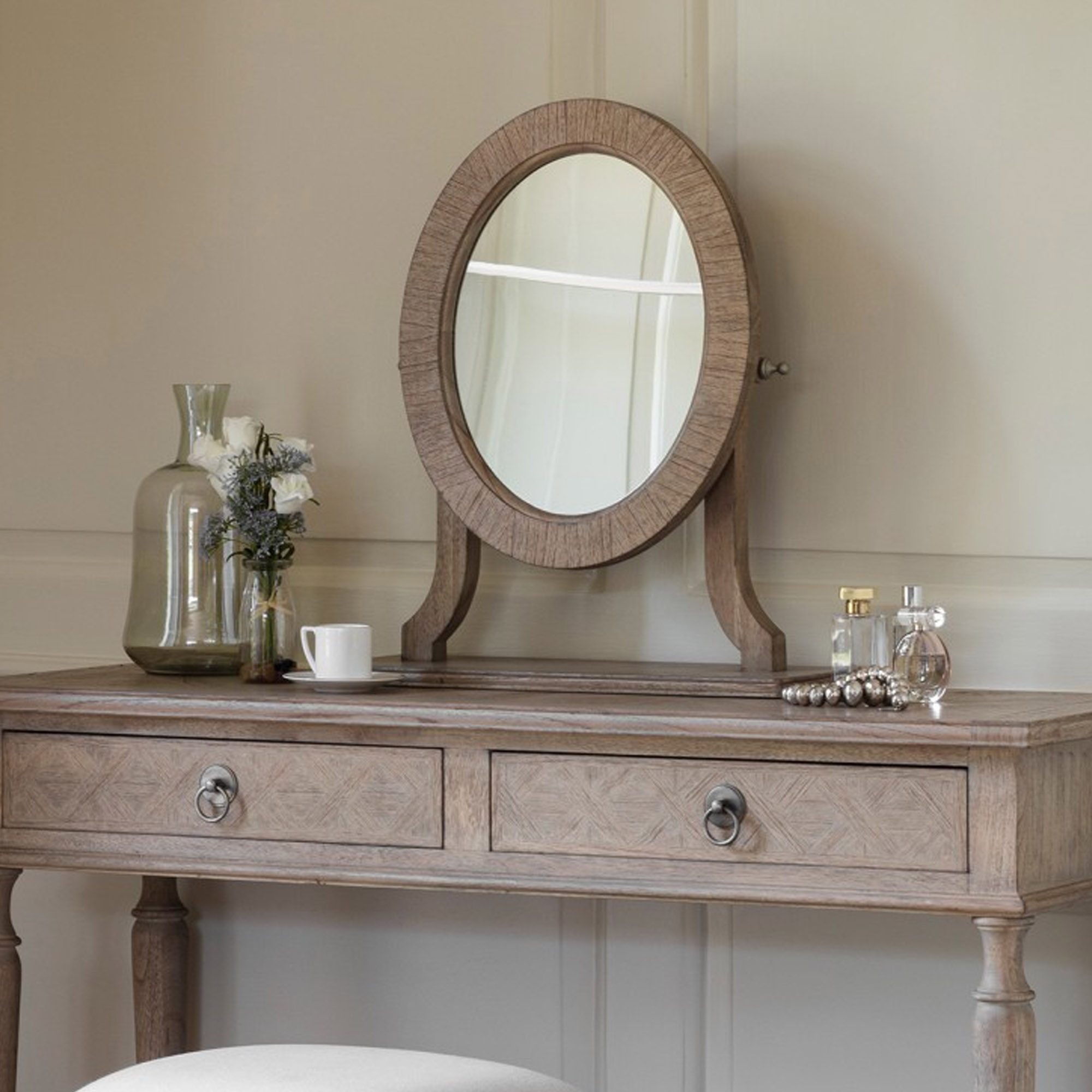 Mustique Dressing Table Mirror Wooden Table Mirror Table Mirror