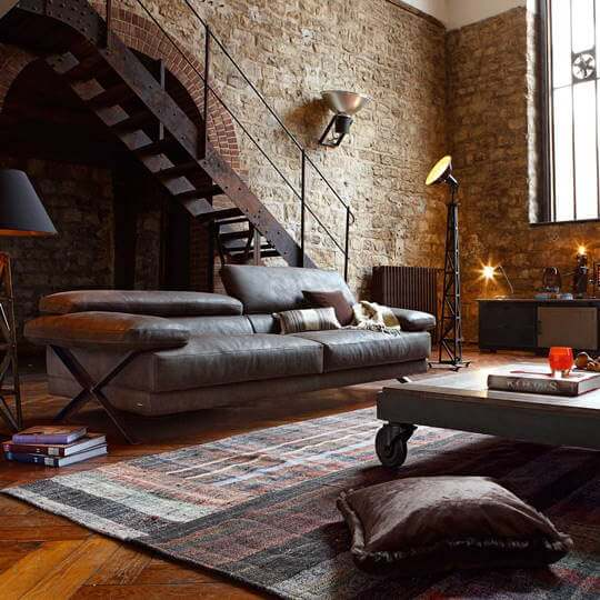 industrieel interieur   robuust-strak-functioneel-ruig  metaal, beton, onbewerkt hout  woonstijl  www.homeseeds.nl